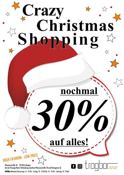 Christmas Shopping im tragbar Esslingen