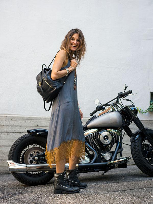 Kleid für den Herbst mit Rucksack tragbar Esslingen