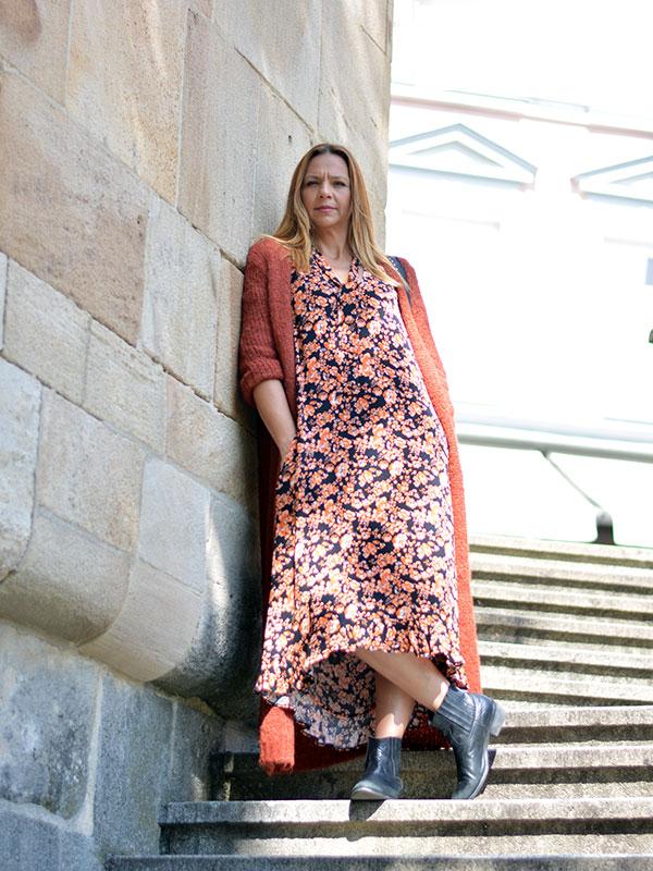 Herbstmode 2019 Kleid Baum und Pferdgarten Esslingen tragbar